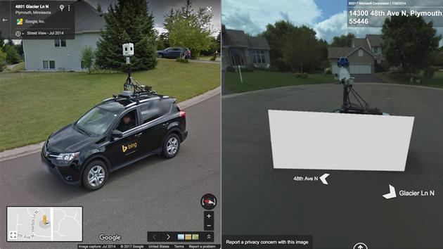 Google Map ve Bing Map Street View Araçları Karşılaşırsa